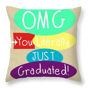 Graduation Card Throw Pillow
