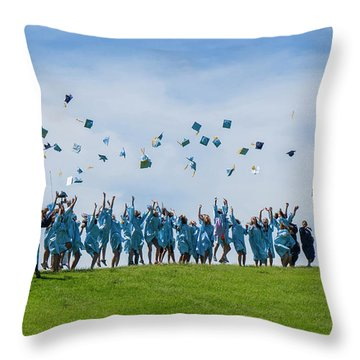 Throw Pillow featuring the photograph Graduation Day by Alan Toepfer
