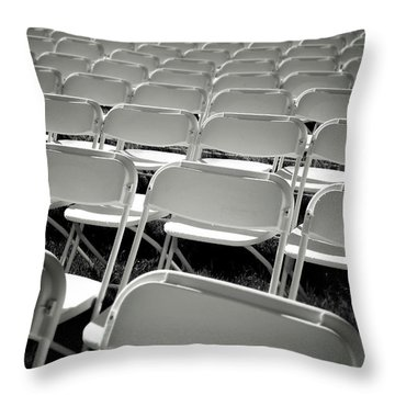 Graduation Day- Black And White Photography By Linda Woods Throw Pillow