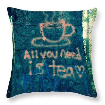 Graffitea Time Throw Pillow