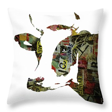 Graffiti Cow Abstract Modern Painting Pop Art Prints Poster  Robert Erod  Throw Pillow