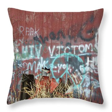 Graffiti Throw Pillow by Cynthia Lassiter