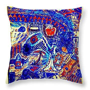 Graffiti Doodle  Throw Pillow by Sheri Buchheit