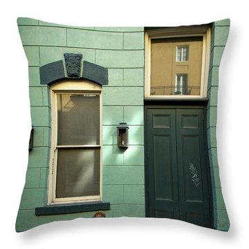 Graffiti Door Throw Pillow