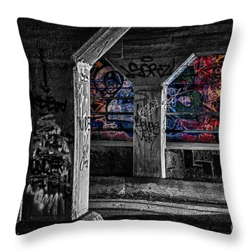 Graffiti Galore 2 Throw Pillow