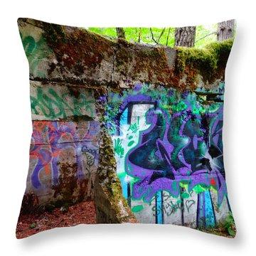 Graffiti Illusion Throw Pillow