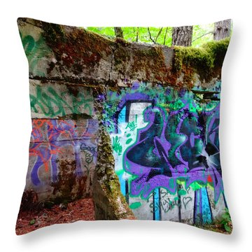 Graffiti Illusion Throw Pillow