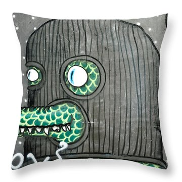 Graffiti Of Balaclava Animal Throw Pillow