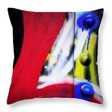 Graffiti On Iron Throw Pillow