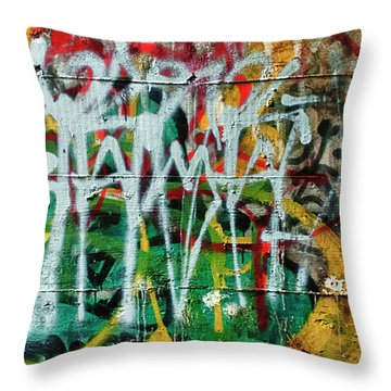 Graffiti Scramble Throw Pillow
