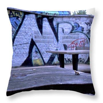 Graffiti Table Throw Pillow