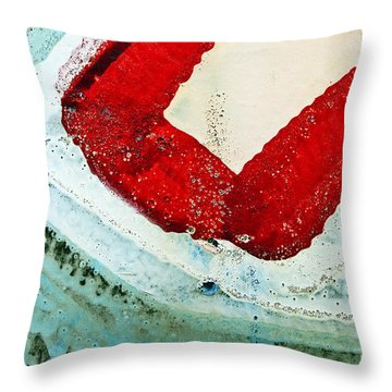Graffiti Texture IIi Throw Pillow by Ray Laskowitz - Printscapes