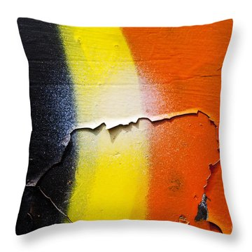 Graffiti Texture Iv Throw Pillow by Ray Laskowitz - Printscapes