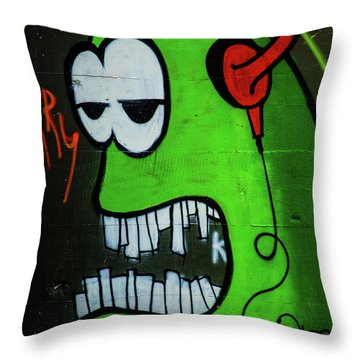 Graffiti_12 Throw Pillow