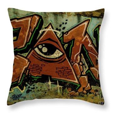 Graffiti_17 Throw Pillow