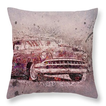 Throw Pillow featuring the photograph Graffiti Merc by Joel Witmeyer