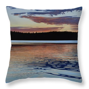 Throw Pillow featuring the painting Graham Lake by Kenneth M Kirsch