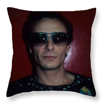 Graham Parker Throw Pillow by Rich Fuscia