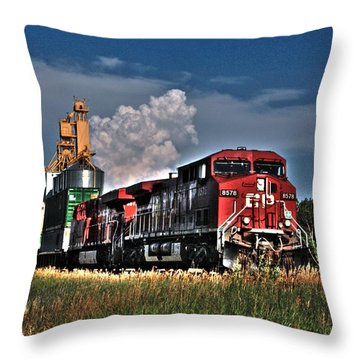 Grain Train Throw Pillow