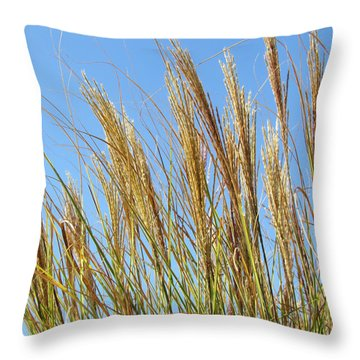 Grains Of Grass In The Wind Throw Pillow