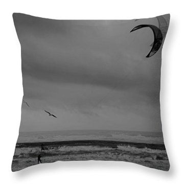 Grainy Wind Surf Throw Pillow