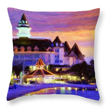 Grand Floridian Throw Pillow