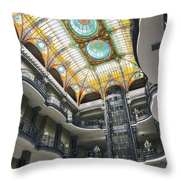 Gran Hotel Throw Pillow