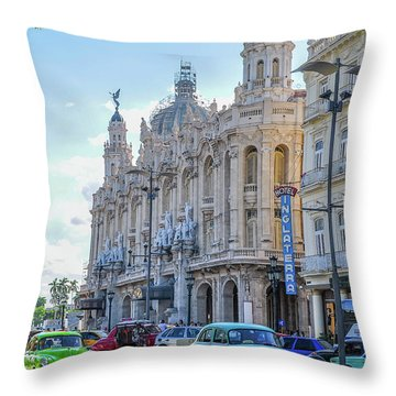 Gran Teatro De La Habana Throw Pillow