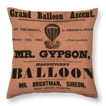 Grand Balloon Ascention Throw Pillow