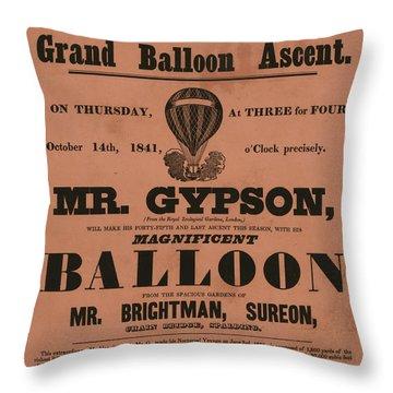 Grand Balloon Ascention Throw Pillow