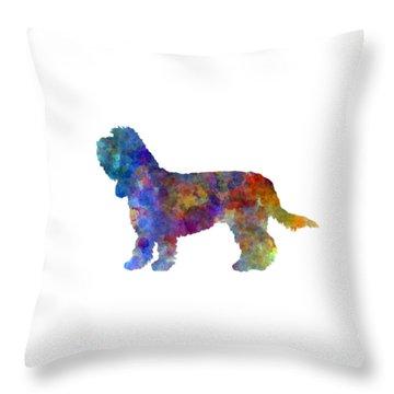 Grand Basset Griffon Vendeen In Watercolor Throw Pillow