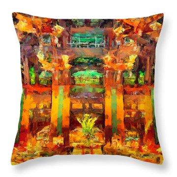 Grand Californian Resort Lobby Throw Pillow