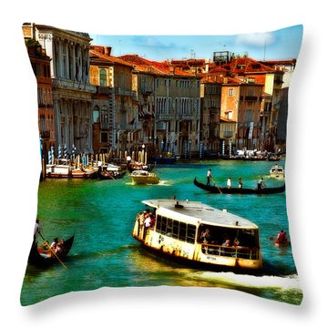 Grand Canal Daytime Throw Pillow