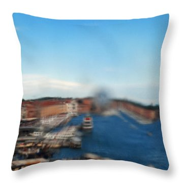 Grand Canal Through Window Tile Throw Pillow