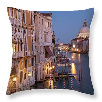 Throw Pillow featuring the photograph Grand Canal Twilight by Brian Jannsen