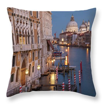 Throw Pillow featuring the photograph Grand Canal Twilight II by Brian Jannsen