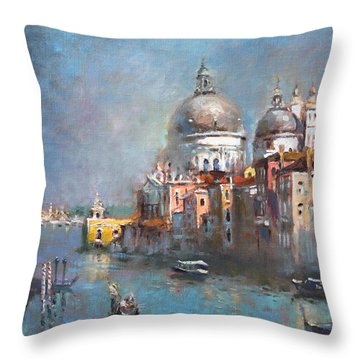 Grand Canal Venice 2 Throw Pillow
