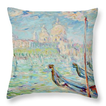 Grand Canal Venice Throw Pillow by Pierre Van Dijk