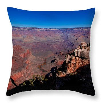Throw Pillow featuring the photograph Grand Canyon 1 by Donna Corless