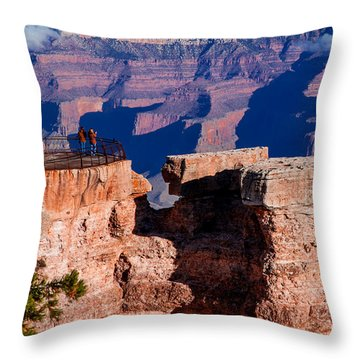 Throw Pillow featuring the photograph Grand Canyon 16 by Donna Corless