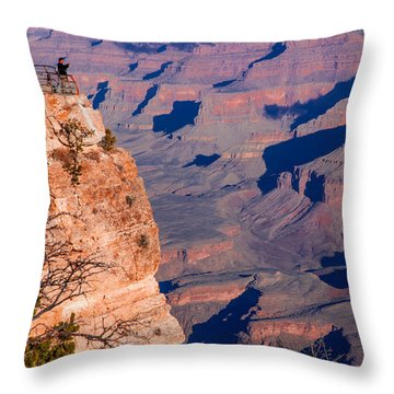 Throw Pillow featuring the photograph Grand Canyon 18 by Donna Corless