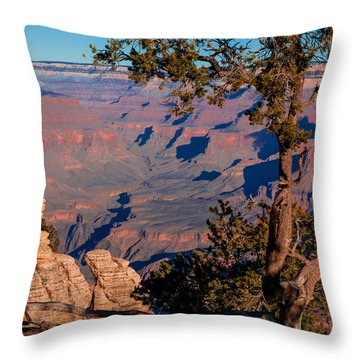 Throw Pillow featuring the photograph Grand Canyon 20 by Donna Corless