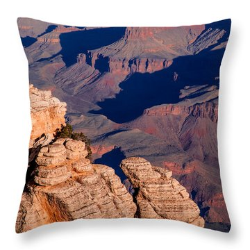 Throw Pillow featuring the photograph Grand Canyon 21 by Donna Corless