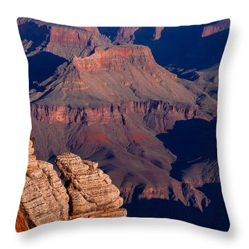 Throw Pillow featuring the photograph Grand Canyon 24 by Donna Corless