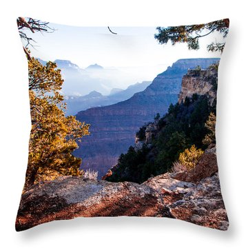 Throw Pillow featuring the photograph Grand Canyon 26 by Donna Corless