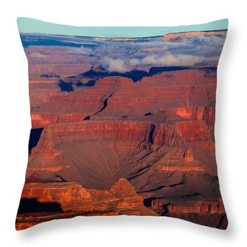 Throw Pillow featuring the photograph Grand Canyon 32 by Donna Corless