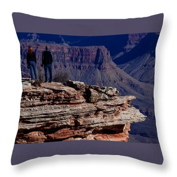 Throw Pillow featuring the photograph Grand Canyon 5 by Donna Corless