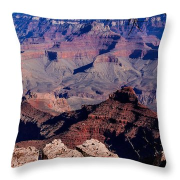 Throw Pillow featuring the photograph Grand Canyon 7 by Donna Corless