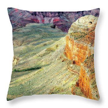 Grand Canyon Abstract Throw Pillow
