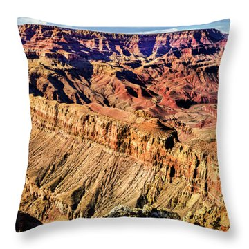 Grand Canyon Afternoon At Lipan Point Throw Pillow